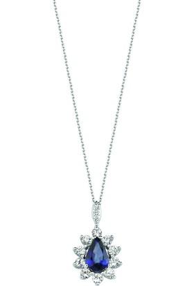 Valentine Diamond Pırlantalı Safirli Kolye - Princess-P