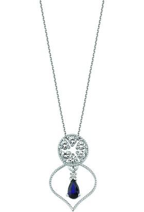 Valentine Diamond Pırlantalı Safirli Kolye - Lady