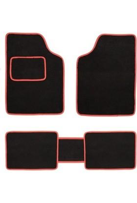 Nyf Universal Kesim Halı Paspas Siyah (Biye Kırmızı)