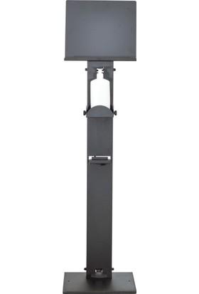 İhya Metal Temassız El Dezenfektan Standı 34 x 34 x 136 cm