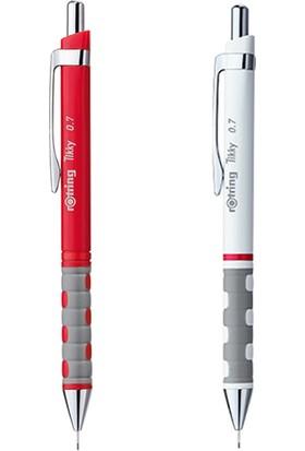 Rotring Tikky Versatil Kalem 0.7 mm Kırmızı - Beyaz