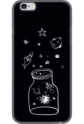 Moodcase Apple iPhone 6 Plus Kavanoz Gezegen Desenli Telefon Kılıfı