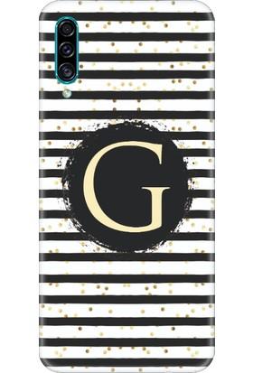 Moodcase Samsun Galaxy A30S Puantiye Desen G Harfli Telefon Kılıfı