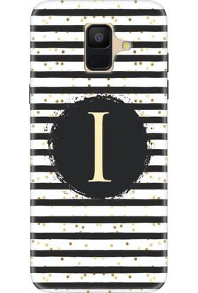 Moodcase Samsun Galaxy A6 Puantiye Desen I Harfli Telefon Kılıfı