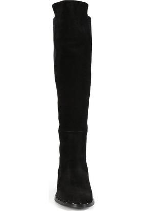 Sofia Baldi Feline Siyah Süet Kadın Topuklu Çizme