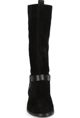 Sofia Baldi Mary Siyah Deri Kemer Kadın Düz Çizme