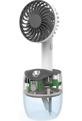 Yukka Nemlendirici Fan USB Şarjlı Taşınabilir Mini Fan Ofis Ev Masaüstü Nano Sprey Sessiz (Yurt Dışından)