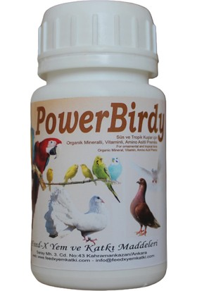 Feed-X Papağan Muhabbet Kanarya Süs - Tropik Kuşlar Güvercin Vitamin,organik Mineralli Yem Katkısı 50 gr