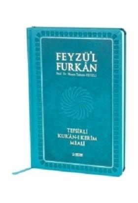 Feyzü'l Furkan Tefsirli Kur'an-I Kerim Meali - Sadece Meal - Büyük Boy - Turkuaz