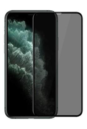 Minesk Apple iPhone 11 Pro Max Anti-Dust Mat Privacy Temperli Ekran Koruyucu