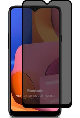 Minesk Samsung Galaxy A20S Privacy Temperli Ekran Koruyucu