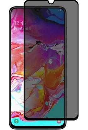 Minesk Samsung Galaxy A70 Privacy Temperli Ekran Koruyucu