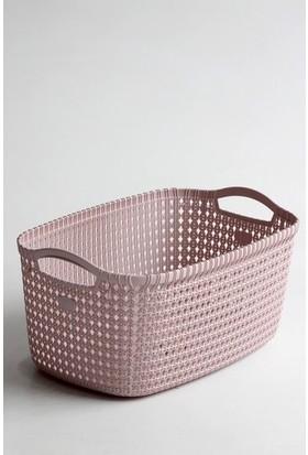 Redro Home Örgü Desenli Plastik Çamaşır Sepeti 35 Lt