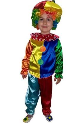 Kostümce Çocuk Palyaço Kostümü Ikili