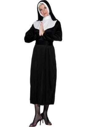 Kostümce Rahibe Kostümü M