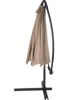 Bidesenal Makaralı Katlanır Gölgelik 8 Telli Ampul Şemsiye