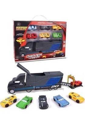 Şimşek Mcqueen Cars Oyuncak Metal Araç 6'lı + Mack Tır Set