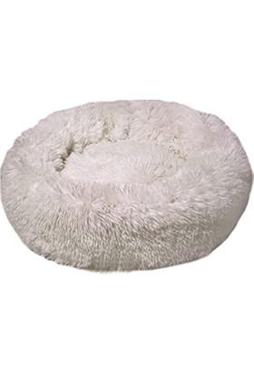 Dubex Ponchik Peluş Yatak L Beyaz