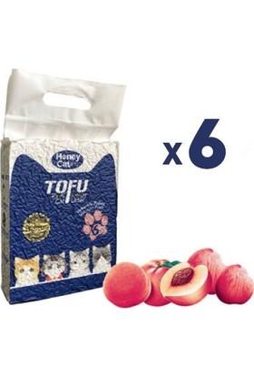 Honey Cat Doğal Şeftali Kokulu Topaklanan Tofu Kedi Kumu 6 Lt x 6 Adet