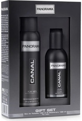 Panorama Canal Erkek Parfüm ve Deodorant Seti (100 ml Edt + 150 ml Spray Deodorant)