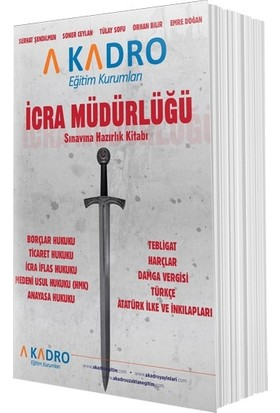 A Kadro Eğitim Kurumları İcra Müdürlüğü Sınava Hazırlık Kitabı