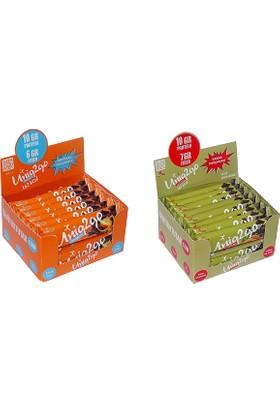 UNIQ2GO Chocolight Portakal Parçacık'lı Bar 16''lı Kutu + Choco Dark 16''lı Kutu