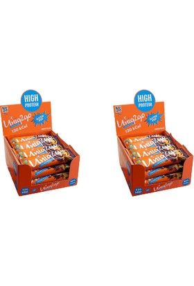 UNIQ2GO Choco Light Midi 16'lı Kutu 2 x Kutu %100 Naturel Portakal Aromalı Proteinli Bar Kutu Içi Adet 40 gr