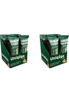 UNIQ2GO In Love - Fıstık Ezmeli Proteinli Bar 12'li Kutu 2 x Adet Kutu Içi Toplam 24 Adet