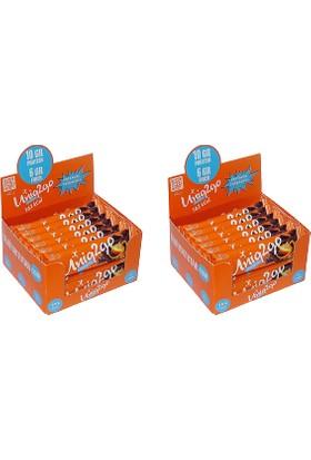 UNIQ2GO Chocolight Portakal Parçacık'lı Bar 16''lı 2 Kutu (32 Adet)