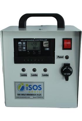 İsos Güneş Paneli 20 W + Taşınabilir Güneş Enerjili Aydınlatma Sistemi 160 W