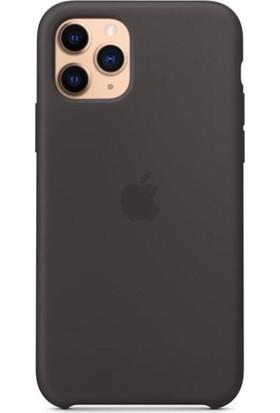 Rosstech Apple iPhone 11 Pro Lansman Silikon Kılıf Siyah + Ekran Koruyucu