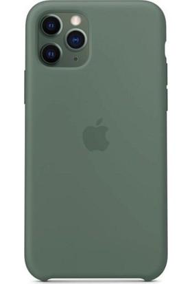 Rosstech Apple iPhone 11 Pro Max Lansman Silikon Kılıf Çam Yeşili + Ekran Koruyucu