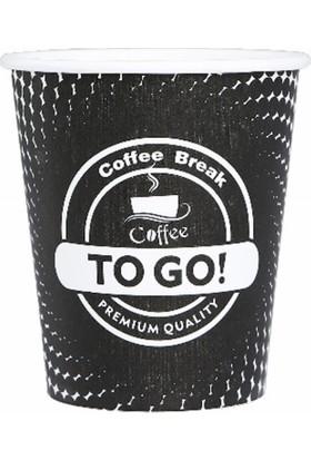 Elit Karton Bardak 8 Oz 100'LÜ Coffee To Go Siyah Karton Bardak