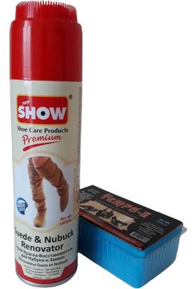 Show Süet Nubuk Sprey Natural Renksiz 250 ml Ve Temizleme Süngeri