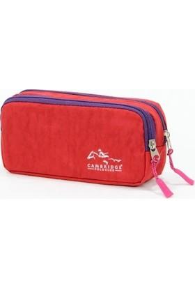 Cambridge Polo Club Iki Gözlü Kalemlik Kırmızı - Mor