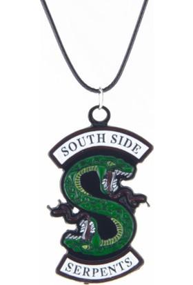 AlpCollection Riverdale South Side Serpents Yılan Deri Ipli Metal Kolye