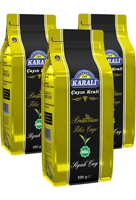 Karali Premium Filiz Dökme Çay 500 gr x 3 Adet