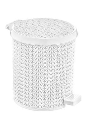 Şenyayla Plastik Pedallı Örgü Çöp Kovası 3,5 lt