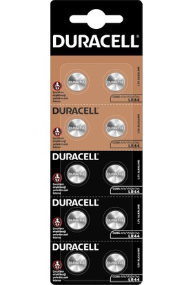 Duracell Özel LR44 Alkalin Düğme Pil 1,5V 10'lu paket