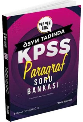 Tercih Akademi Kpss Paragraf Soru Bankası 2020 - Mehmet Görgünoğlu