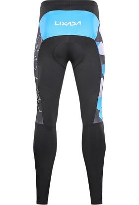 Lixada Erkekler Kış Termal Polar Bisiklet Giyim Set Uzun Kollu