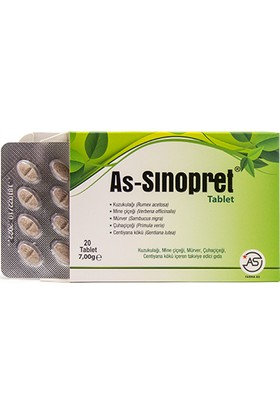 Farma As As-Sinopret 20 Tablet