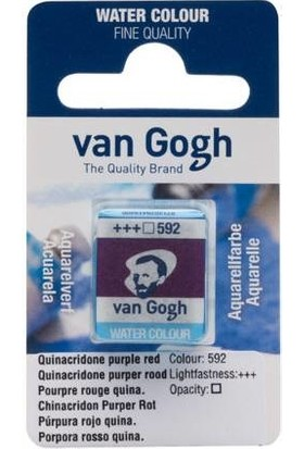 Van Gogh Tablet Sulu Boya Yedek Qulna Purple Red 592