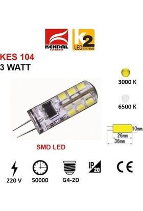 K2 Iğne Bacak Kapsül LED Ampül G4 Duy 3 W