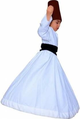 Dilek Kostüm Semazen Çocuk Kıyafeti Mevlana Derviş Gösterileri Için Özel Üretim Etek Açılabilir Kostüm