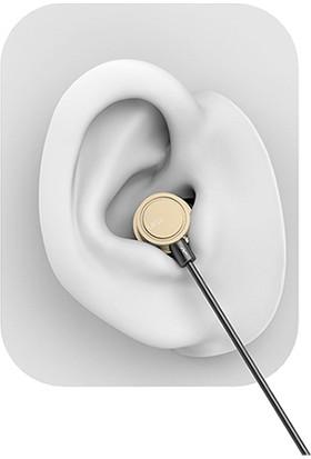 Uiisii HM13 Mikrofonlu Kulakiçi Dinamik Kulaklık - Titanyum - Güçlü Bas - Siyah