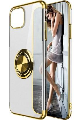 Gpack Samsung Galaxy M31 Kılıf Gess Yüzüklü Mıknatıslı Silikon Gold