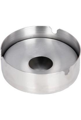 Globy Metal Havuzlu İç Kapaklı Paslanmaz Büyük Küllük 10 cm