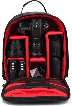 Pdx Canon Fotoğraf Makinesi Profesyonel Çift Askılı Çift Askılı Sırt Çantası