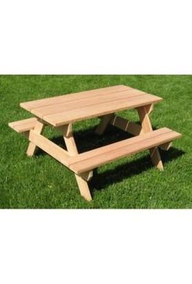 Cicibici Ahşap Çocuk Piknik Masası